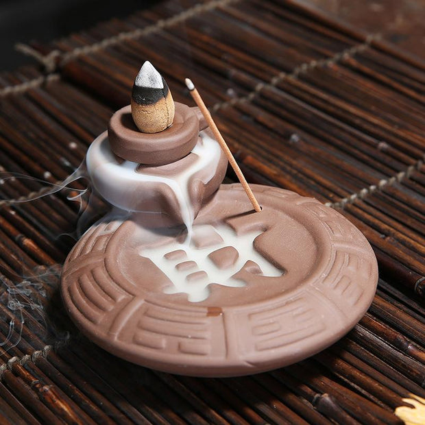 The Engrave Aromatherapy Waterfall Incense Burner for Gift, Home and Office