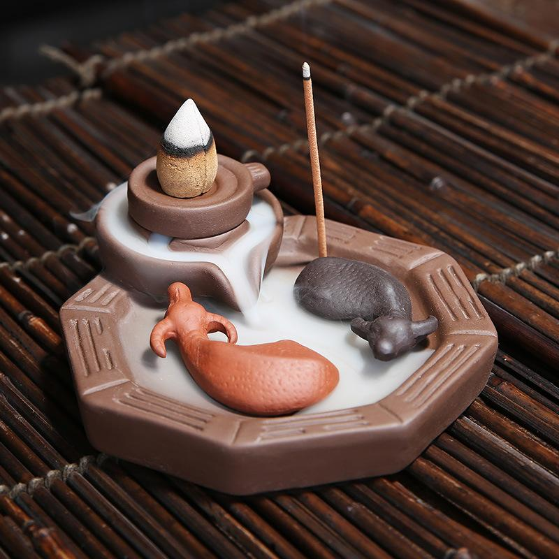 The Ox Pond Aromatherapy Waterfall Incense Burner for Gift, Home and Office