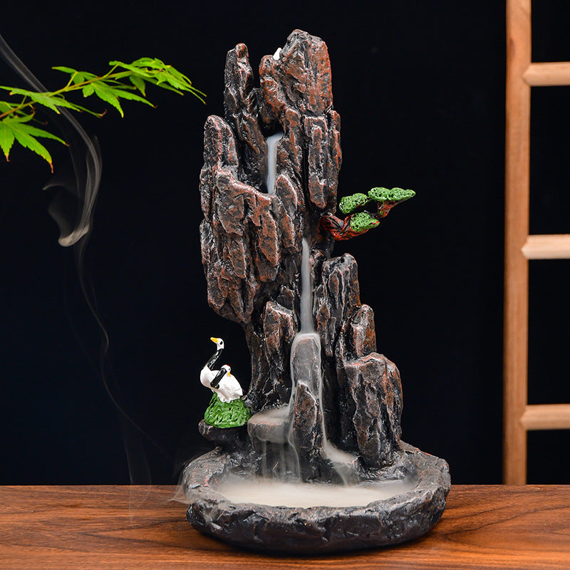 The Birdy Mountain Aromatherapy Waterfall Incense Burner for Gift, Home and Office