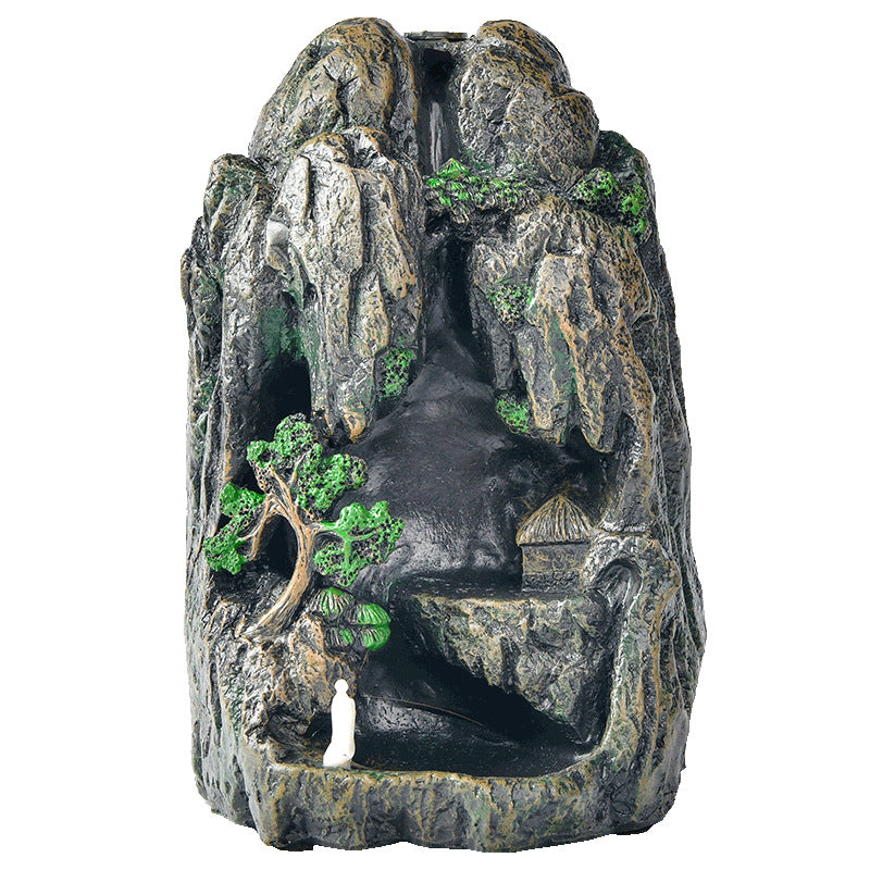 The Greenery Mountain Aromatherapy Waterfall Incense Burner for Gift, Home and Office