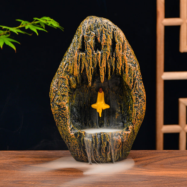 The Yellow Cave Aromatherapy Waterfall Incense Burner for Gift, Home and Office