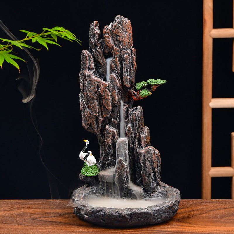 The Bird Nest Mountain Aromatherapy Waterfall Incense Burner for Gift, Home and Office
