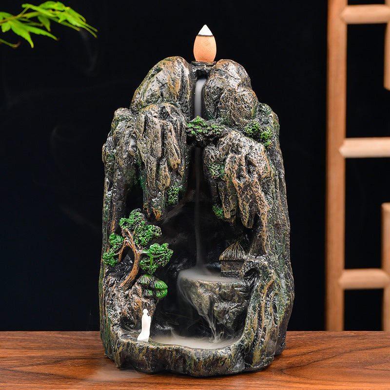The Tree Beneath Mountain Aromatherapy Waterfall Incense Burner for Gift, Home and Office