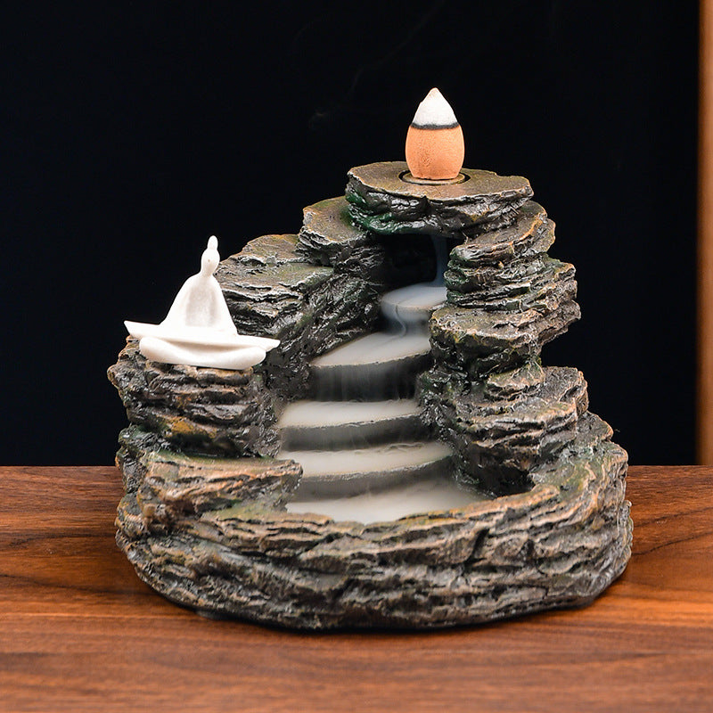 The Stair Hill Aromatherapy Waterfall Incense Burner for Gift, Home and Office