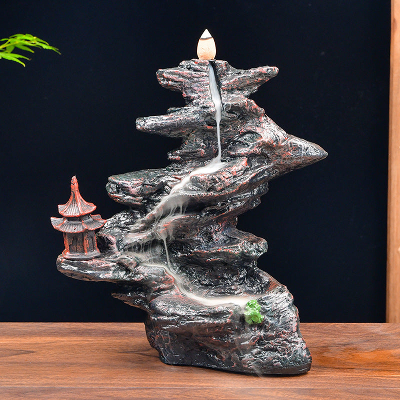 The Shrine over Curve Hill Aromatherapy Waterfall Incense Burner for Gift, Home and Office