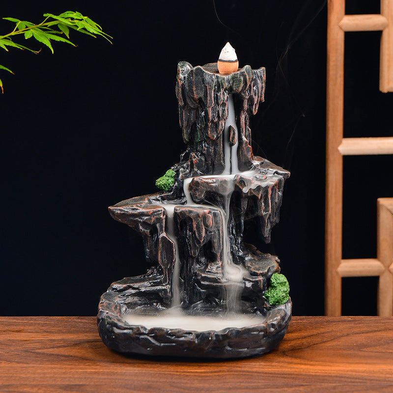 The Old Hill Fall Aromatherapy Waterfall Incense Burner for Gift, Home and Office