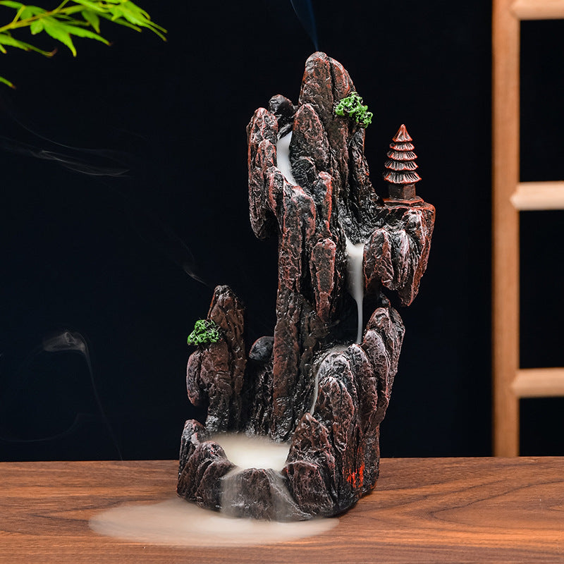 The Shrine on the Hill Aromatherapy Waterfall Incense Burner for Gift, Home and Office