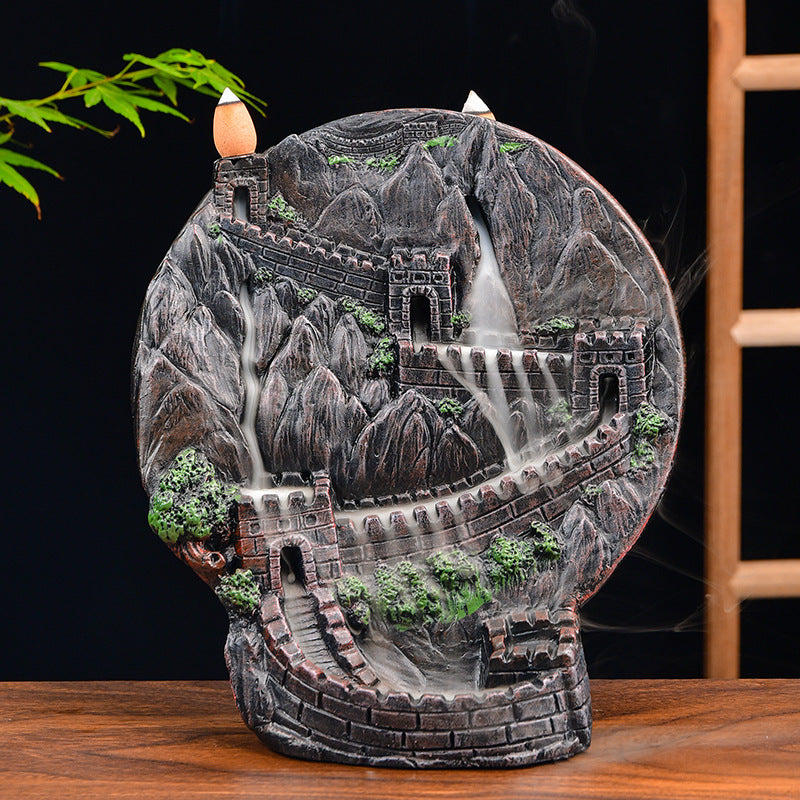 The Madolion Aromatherapy Waterfall Incense Burner for Gift, Home and Office