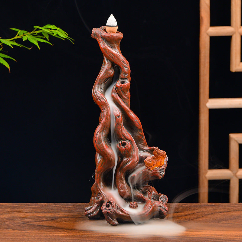 The Tree Bark Aromatherapy Waterfall Incense Burner for Gift, Home and Office