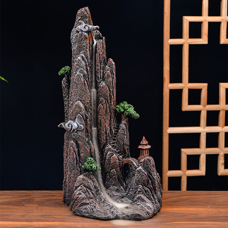 The Melting Mountain Aromatherapy Waterfall Incense Burner for Gift, Home and Office