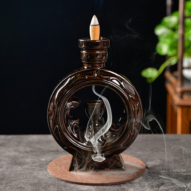 The Dark Ring Aromatherapy Waterfall Incense Burner for Gift, Home and Office
