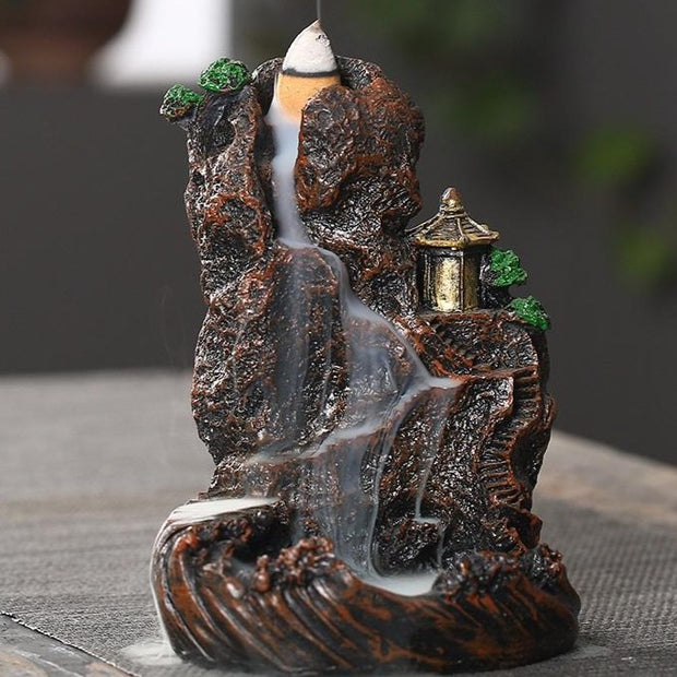 The China Traditional Moutain Aromatherapy Waterfall Incense Burner for Gift, Home and Office