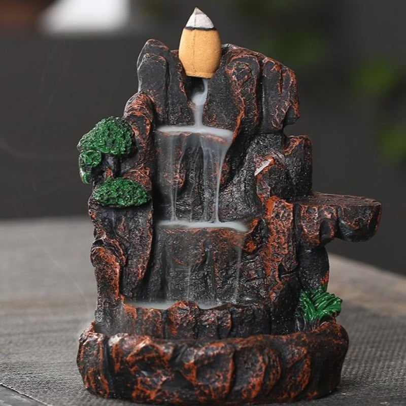 The 3 Step Waterfall Aromatherapy Waterfall Incense Burner for Gift, Home and Office