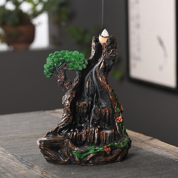 The Green Mountain Aromatherapy Waterfall Incense Burner for Gift, Home and Office