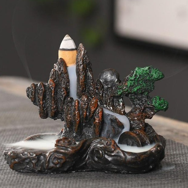 The Bonsai Mountain Aromatherapy Waterfall Incense Burner for Gift, Home and Office