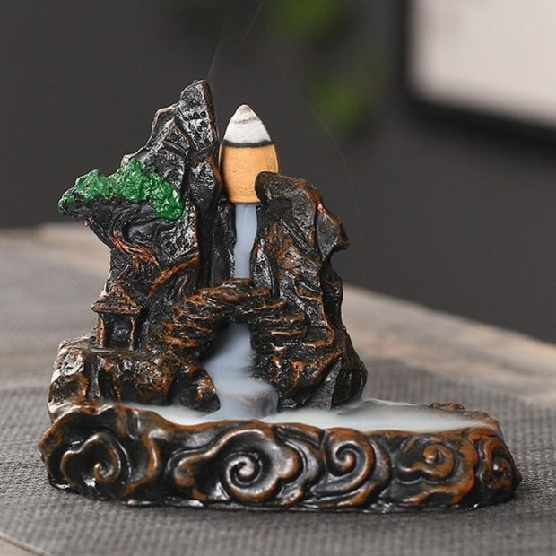 The Bonsai Cave Aromatherapy Waterfall Incense Burner for Gift, Home and Office