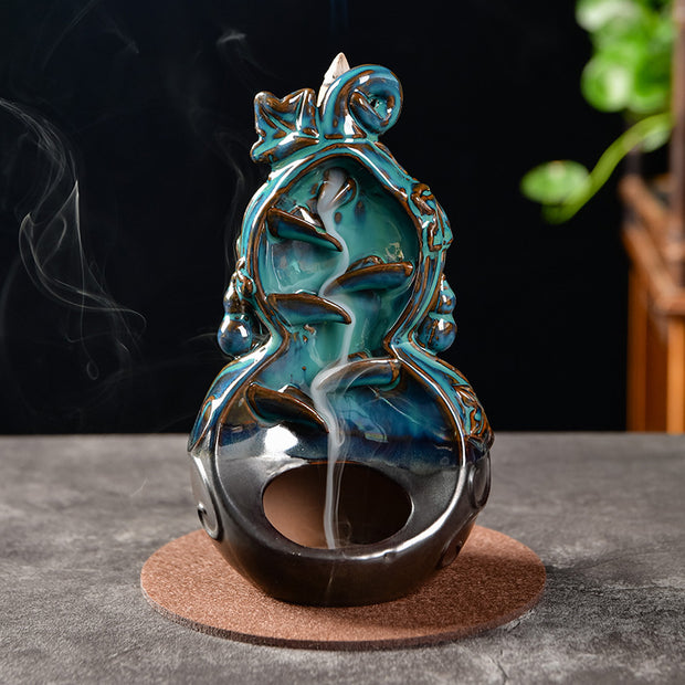The Mystical Sake Aromatherapy Waterfall Incense Burner for Gift, Home and Office