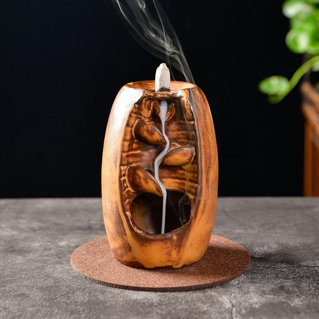 The Mini Earth Fountain Aromatherapy Waterfall Incense Burner for Gift, Home and Office