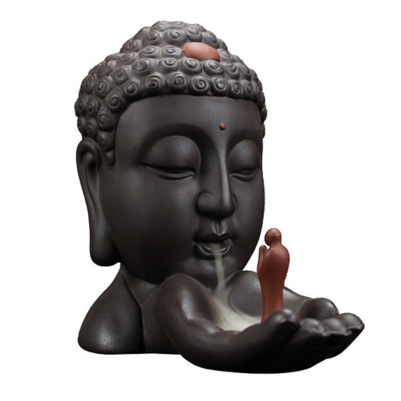 The Buddha and The Monk Aromatherapy Waterfall Incense Burner for Gift, Home and Office