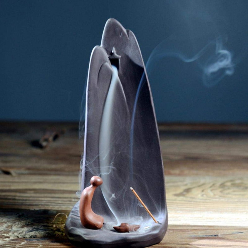 The Worshiping Monk Aromatherapy Waterfall Incense Burner for Gift, Home and Office