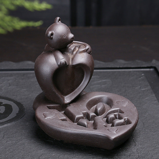 The Bear Heart Aromatherapy Waterfall Incense Burner for Gift, Home and Office