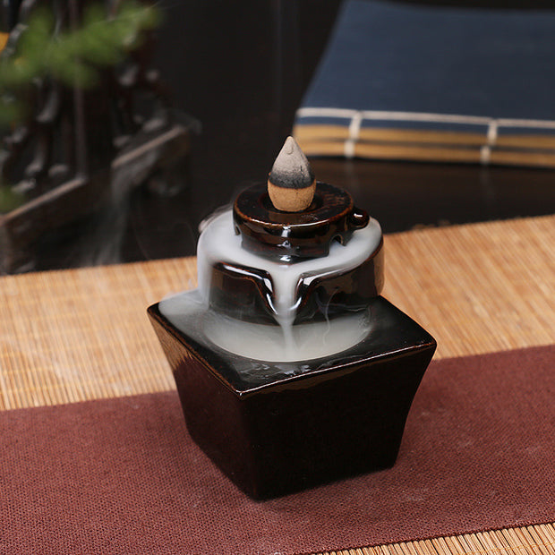 The Brick Waterfall Aromatherapy Waterfall Incense Burner for Gift, Home and Office