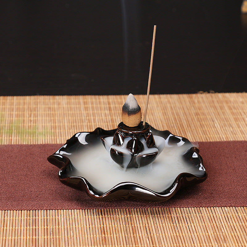 The Emerging Petal Aromatherapy Waterfall Incense Burner for Gift, Home and Office