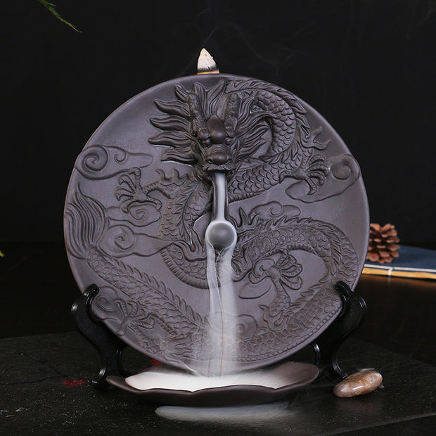 The Black Dragon Pearl Aromatherapy Waterfall Incense Burner for Gift, Home and Office