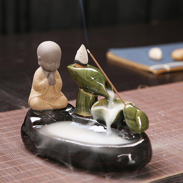The Eco Buddha Aromatherapy Waterfall Incense Burner for Gift, Home and Office