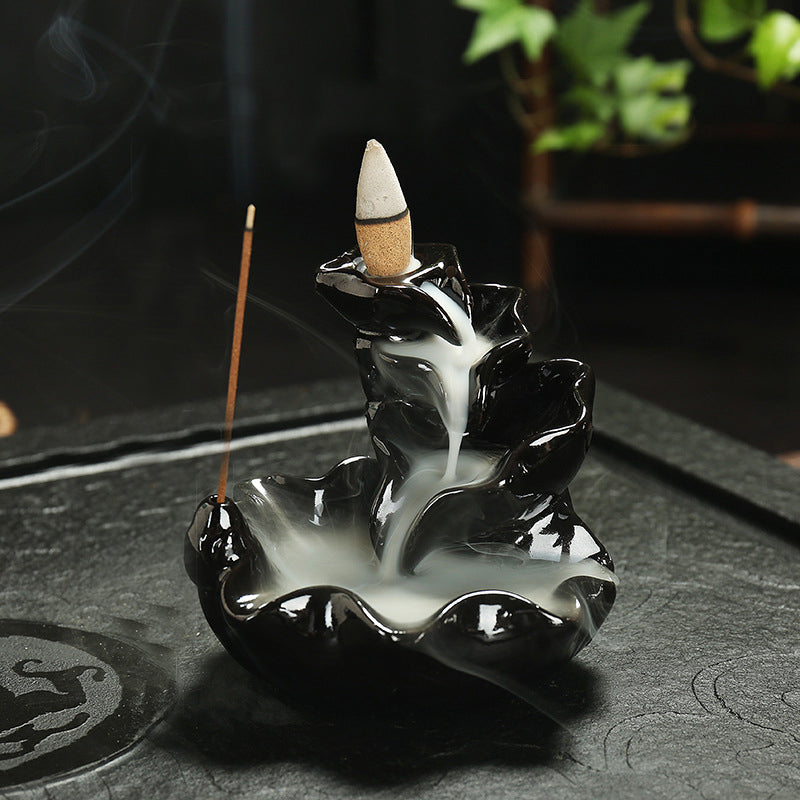 The Lilly Waterfall Aromatherapy Waterfall Incense Burner for Gift, Home and Office