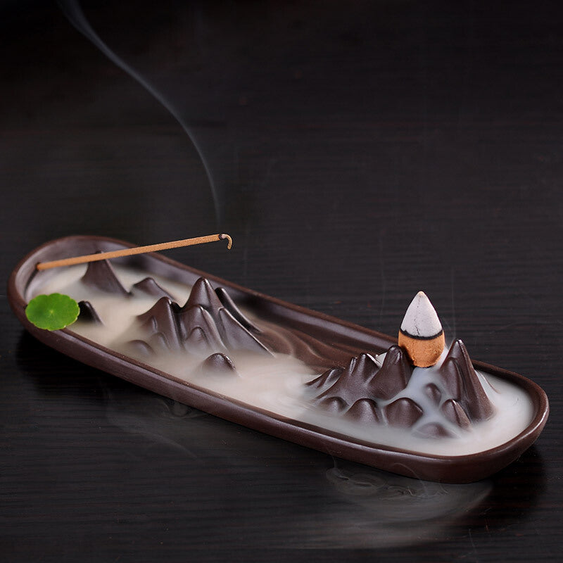 The Forest Aromatherapy Waterfall Incense Burner for Gift, Home and Office