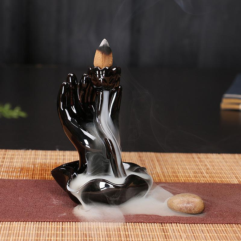 The Reaching Hands Aromatherapy Waterfall Incense Burner for Gift, Home and Office