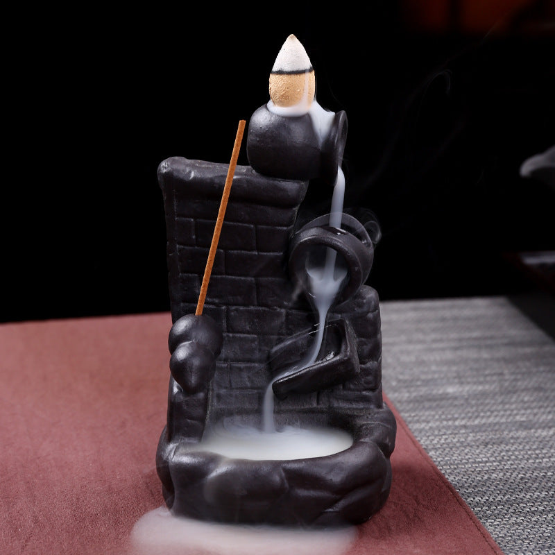 The Village Pond Aromatherapy Waterfall Incense Burner for Gift, Home and Office