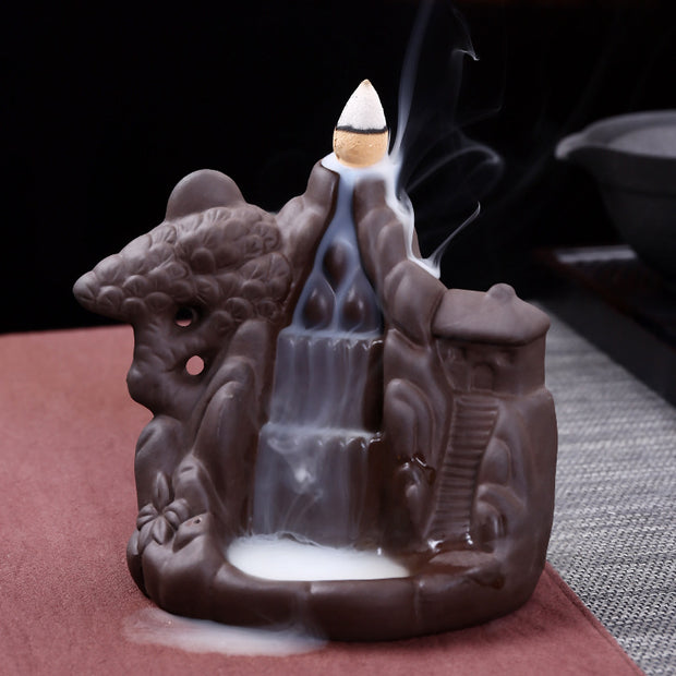 The Carved Hill Aromatherapy Waterfall Incense Burner for Gift, Home and Office