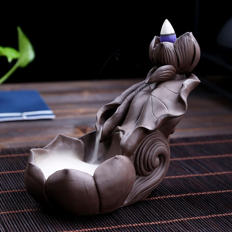 The Lotus Wagon Aromatherapy Waterfall Incense Burner for Gift, Home and Office