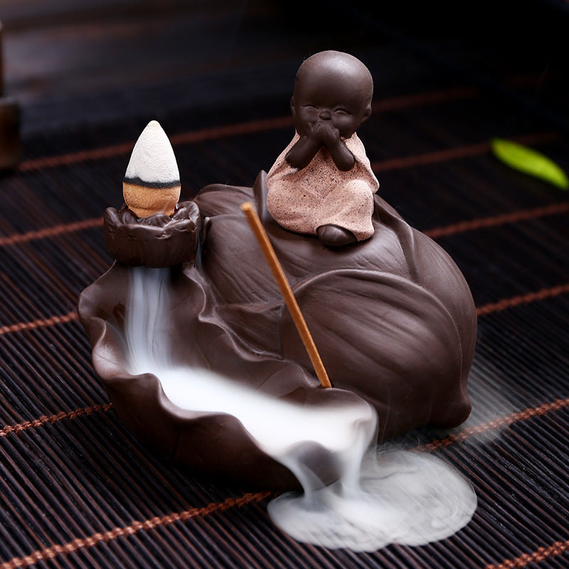 The Quite Monk Aromatherapy Waterfall Incense Burner for Gift, Home and Office