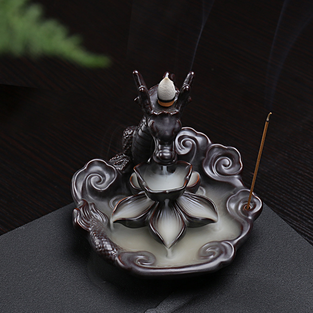 The Fire Dragon Aromatherapy Waterfall Incense Burner for Gift, Home and Office