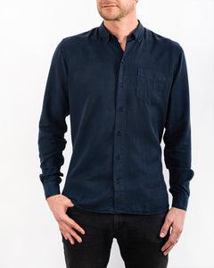 TENCEL SHIRT NAVY