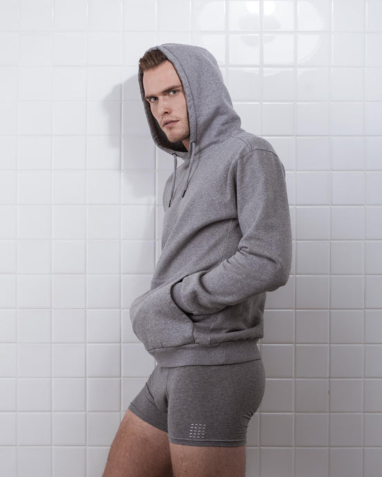 THE BOXER SHORT GREY MELANGE- 2 PACK