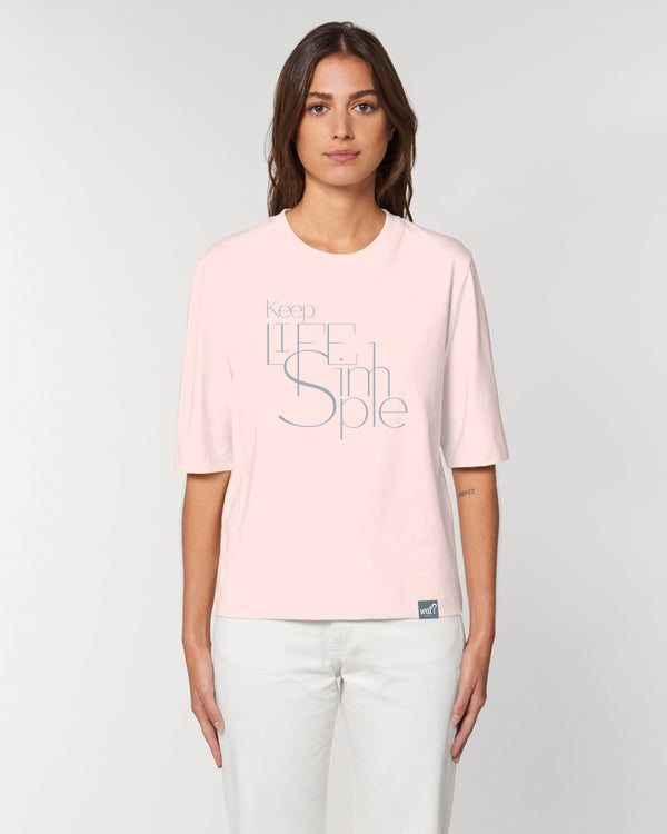 [#motivation] Keep life simple. | Dickes Boxy T-Shirt Damen