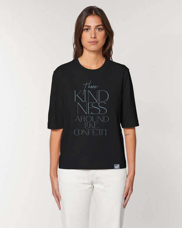 [#motivation] Throw kindness around like confetti | Dickes Boxy T-Shirt Damen