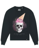 Skull with icecream | Oversize Unisex Sweatshirt