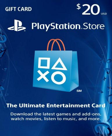 PlayStation Network Card (PSN) 20 $ (USA)