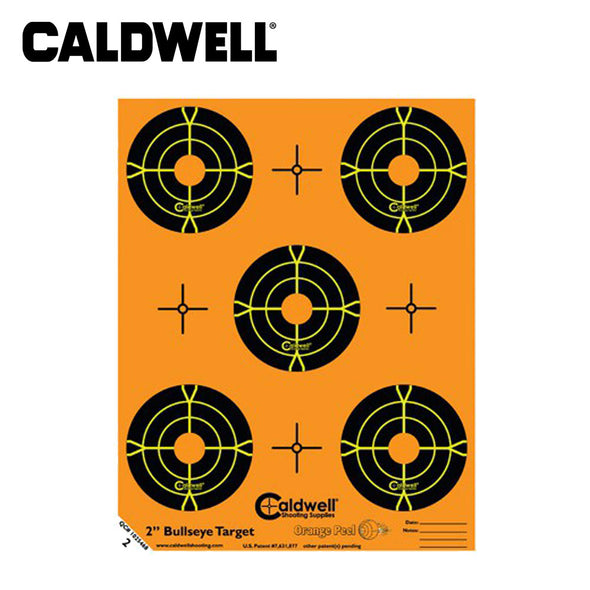 Caldwell Orange Peel 2 Inch Bullseye 10 Sheets
