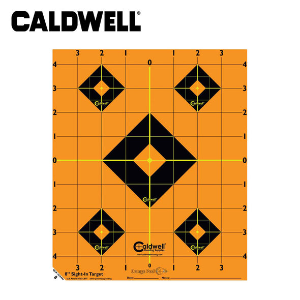 Caldwell Orange Peel Sight-In Target 8 Inch 5 Sheets
