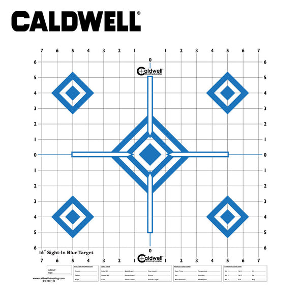Caldwell Sight In Target 16 Inch Hi Contrast Blue 10pk