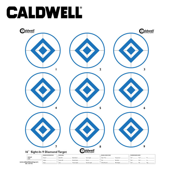 Caldwell Sight In Target 9 Inch Diamond Hi Contast Blue 10pk