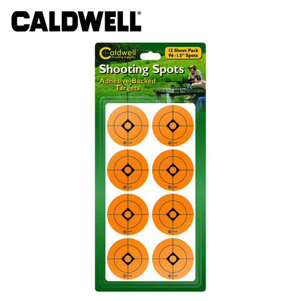 Caldwell 1 Inch Orange Shooting Target patches - 12 Sheets/216pk