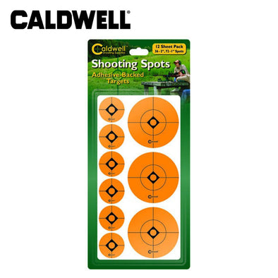 Caldwell 1 And 2 Inch Orange Shooting Spots 12 Sheets/108pk