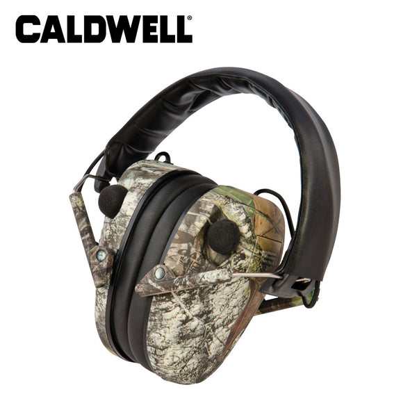 Caldwell E-Max Low Profile Electronic Hearing Protection Mossy Oak Break Up